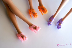 Doll's shoes nr 15 - violet