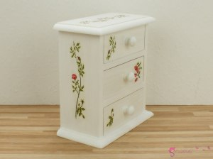 "High chest of drawers ""rose garden"""