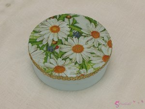 Round box of daisies