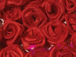 Fabric Rose Ø13-15 mm - red