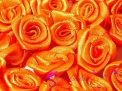 Fabric Rose Ø13-15 mm - orange