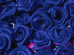 Fabric Rose Ø13-15 mm - navy blue