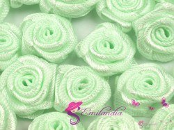 Fabric Rose Ø13-15 mm - green
