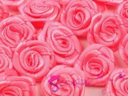 Fabric Rose Ø13-15 mm - pink