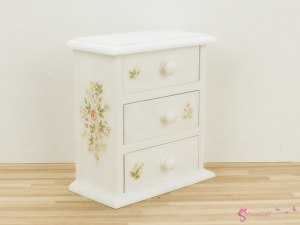 "High chest of drawers ""rose garden II"""