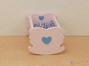 Colored cradles with heart