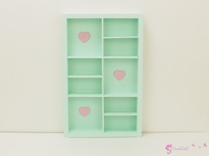 Colorful bookcases with hearts V