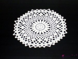 White napkin - pattern 1