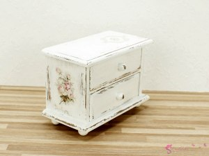 "Low chest of drawers ""bouquet of roses"""