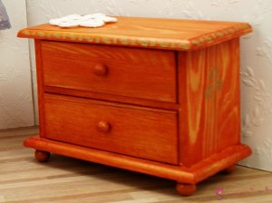 "Low chest of drawers ""Amber flower"""