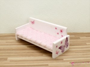 Sofa with butterflies