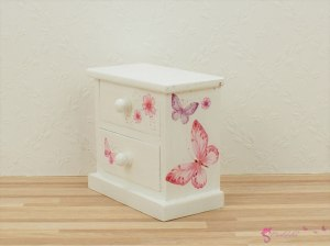 Bedside table with butterflies