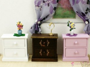 Colorful bedside tables