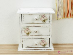 "High chest of drawers ""bouquet of roses"""